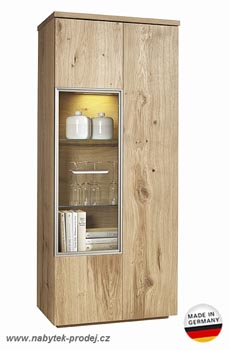 Komoda Highboard - Dub celomasiv